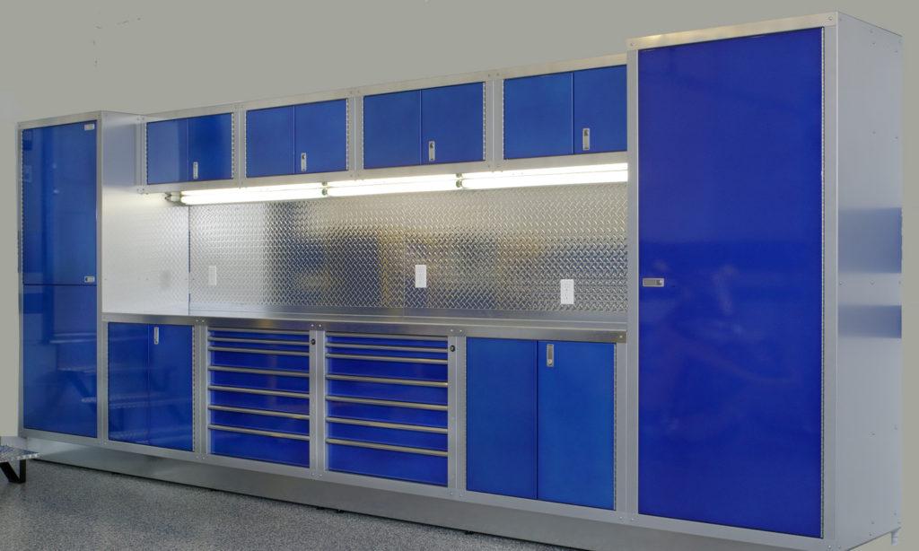 Blue Garage Storage, Hayley Cabinets